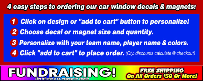 Wrestling Decal Stickers Clings  Magnets - Custom wrestling car magnets
